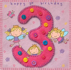 Age 3 Fairy Birthday Card TW252
